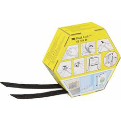 Lepicí pásek se suchým zipem 3M SJ 354D Dual Lock 7000070523, (d x š) 5000 mm x 25.4 mm, černá, 1 pár