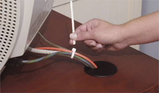Kabelbinder 282 mm Natur von Hand abreißbar ABB DK-380BK 50 St.