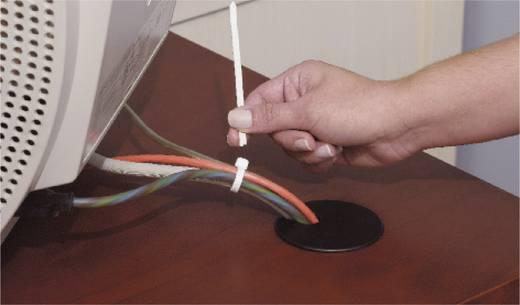 Kabelbinder 282 mm Schwarz von Hand abreißbar, UV-stabilisiert, Witterungsstabil ABB DK-510BK TT-11-30-0-L-EU 50 St.