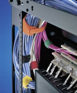 Stahovací páska se suchým zipem H-Tyton TEXTIE-S-PA/PP-BK-X1, 150 x 12,5 mm, černá, 10 ks