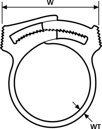 Befestigungsschelle schraubbar selbstrastend, wiederverschliessbar Natur HellermannTyton 191-10049 SNP4(E)-POM-NA-D1 1