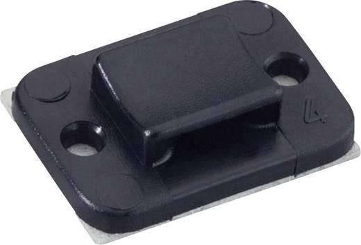 Befestigungssockel selbstklebend, schraubbar halogenfrei , UV-stabilisiert, witterungsstabil Schwarz HellermannTyton 151-11310 TY3G1S-W-C1 1 St.