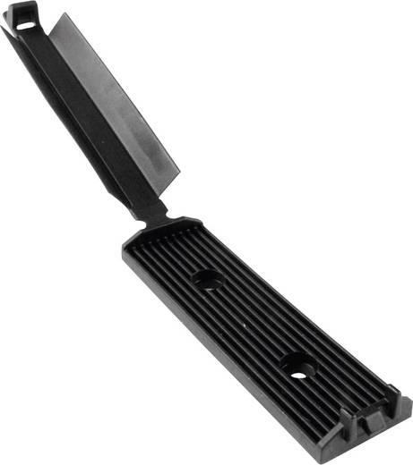HellermannTyton 151-00312 FKH50AVHB-HIR-BK-C1 Befestigungssockel selbstklebend, schraubbar für Flachbandkabel, mit Acry