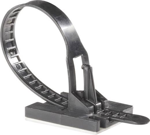 Kabelbinder 117 mm Schwarz mit Klebesockel Richco TOBS-18-01A-RT 1 St.