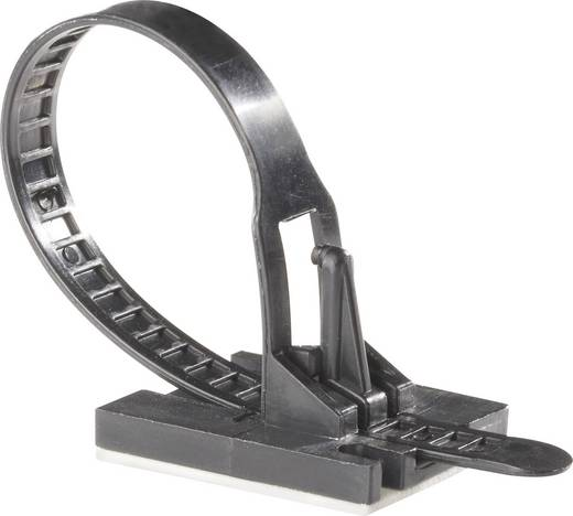 Kabelbinder 117 mm Schwarz mit Klebesockel Richco TOBS-18-01A-RT TOBS-18-01-A-RT 1 St.