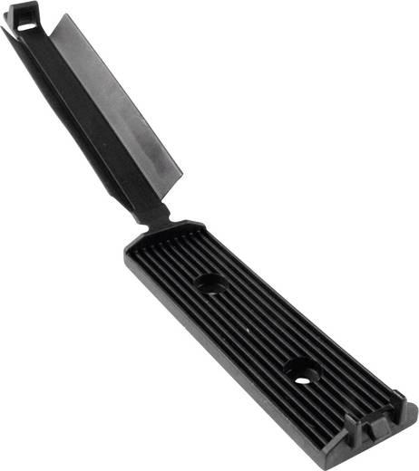Befestigungssockel selbstklebend, schraubbar für Flachbandkabel, mit Acrylat Kleber, schlagzäh Schwarz HellermannTyton
