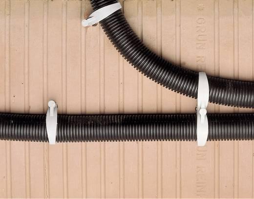 Kabelhalter für Steckmontage im Mauerwerk, halogenfrei , silikonfrei, UV-stabilisiert Hell-Grau 743121 1 St.