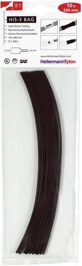Schrumpfschlauchsortiment Schwarz 1.50 mm Schrumpfrate:3:1 HellermannTyton 308-30151 HIS-3-BAG-1,5/0,5 10 St.