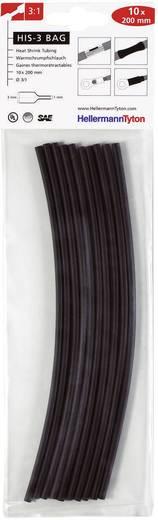 Schrumpfschlauchsortiment Schwarz 3 mm Schrumpfrate:3:1 HellermannTyton 308-30310 HIS-3-BAG-3/1-BK
