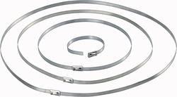 Sťahovacie pásky Conrad Components 546574, 201 mm, ušľachtilá oceľ, strieborná, 10 ks