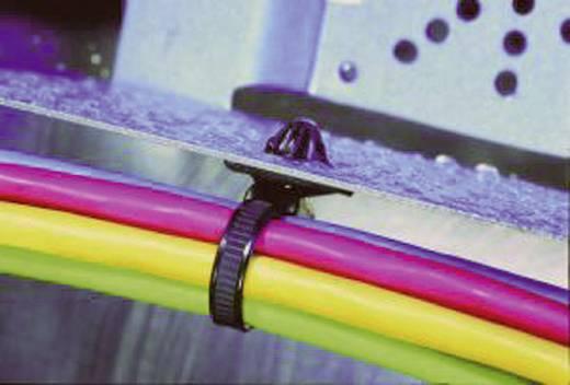 HellermannTyton 156-00379 T50XROSSFT6.5-E-MDL Kabelbinder 200 mm Schwarz mit Spreizanker am Teller gedichtet, Hitzestabi