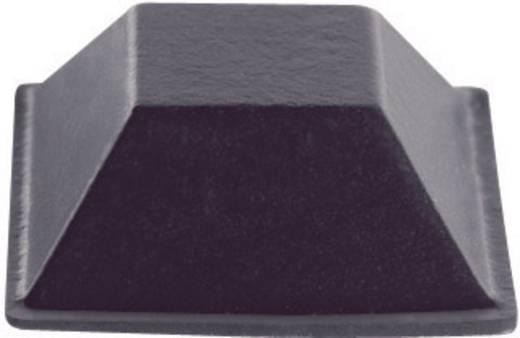 Gerätefüße selbstklebend, quadratisch Schwarz (B x H) 20.6 mm x 7.6 mm PB Fastener BS-19-BK-R-7 7 St.