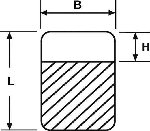 Kabel-Etikett Helasign 12.70 x 12.70 mm Farbe Beschriftungsfeld: Weiß HellermannTyton 598-14020 HSMB-C1-1402-WH Anzahl E