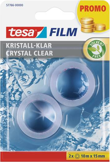 tesafilm tesa tesafilm® Transparent (L x B) 10 m x 15 mm Inhalt: 2 Rolle(n)