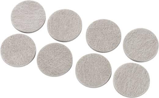 Filzgleiter selbstklebend, rund Grau (Ø x H) 38 mm x 5 mm 8 St.