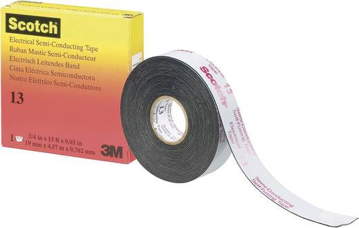 Isolierband 3M Scotch® 13 Schwarz (L x B) 4.5 m x 19 mm Inhalt: 1 Rolle(n)