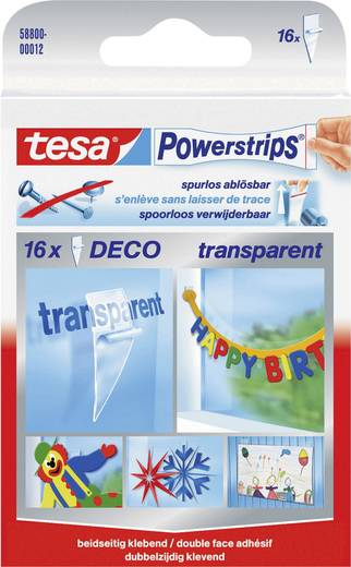 tesa® Powerstrips® Deco Transparent POWERSTRIPS® tesa Inhalt: 1 Pckg.
