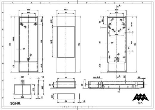 Hand-Gehäuse 175 x 61 x 24 Polystyrol (EPS) Hellgrau TEKO SQ2 1 St.
