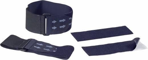 Klettband mit Gurt, zum Aufkleben Haft- und Flauschteil Schwarz Fastech 907-330C 4 Teile
