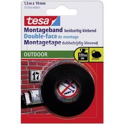 Montážní páska tesa 55750 (d x š) 1.5 m x 19 mm, černá, 1 role