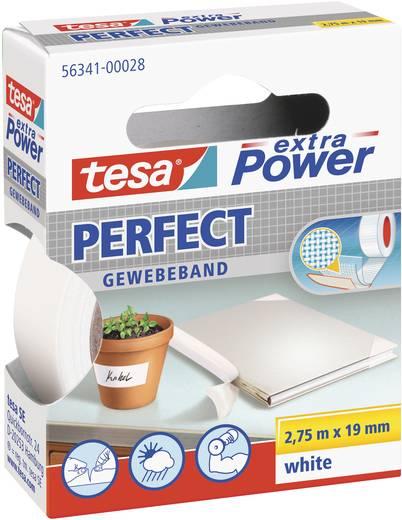 Gewebeklebeband tesa tesa® Extra Power Weiß (L x B) 2.75 m x 19 mm Kautschuk Inhalt: 1 Rolle(n)