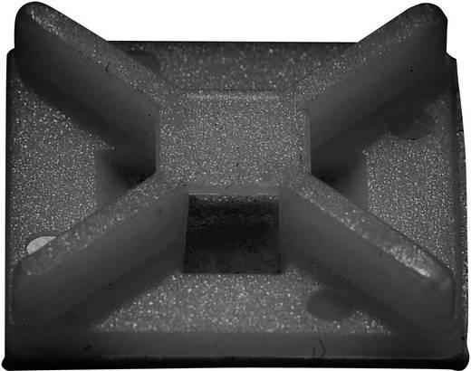 Conrad Components 541227 Befestigungssockel 4fach einfädeln Schwarz 50 St.