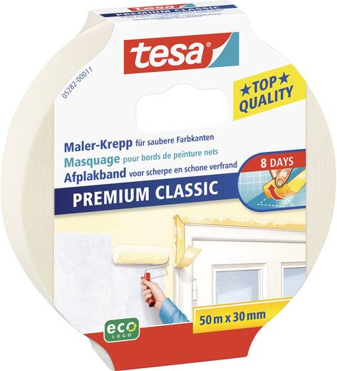 Kreppband tesa® Krepp Beige (L x B) 50 m x 30 mm tesa 05282-00011-03 1 Rolle(n)