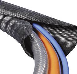 Gaine tressée HellermannTyton Twist-In 08 170-01001 noir polyester 5 à 8 mm au mètre