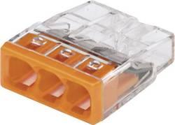 Borne de raccordement WAGO 2273-203 rigide: 0.5-2.5 mm² Nombre total de pôles: 3 transparent, orange 30 pc(s)