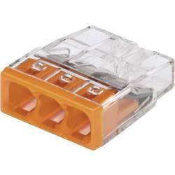 Krabicová svorka WAGO na kábel s rozmerom - , pólů 3, 30 ks, priehľadná, oranžová