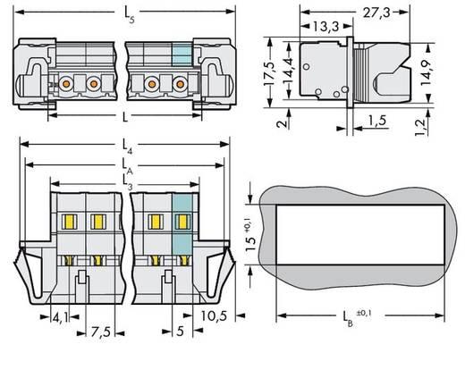 WAGO Stiftleiste (Standard) 2080 Polzahl Gesamt 4 Rastermaß: 7.50 mm 723-604/114-000 50 St.