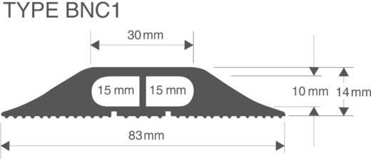 Kabelbrücke Snap Fit BNC (L x B x H) 3000 x 83 x 14 mm Grau Vulcascot Inhalt: 1 St.