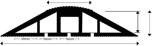 Kabelbrücke Snap Fit MCP (L x B x H) 3000 x 120 x 24 mm Schwarz Vulcascot Inhalt: 1 St.