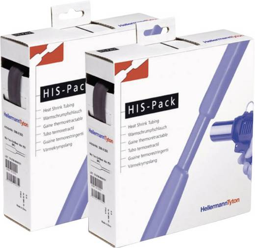 Schrumpfschlauch ohne Kleber Blau 25.40 mm Schrumpfrate:2:1 HellermannTyton 300-32546 HIS-PACK-25,4/12,7-B 5 m