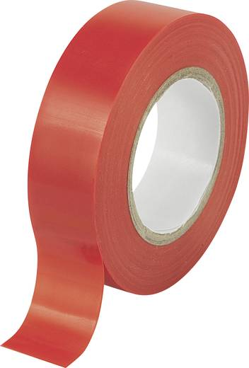 Isolierband Rot (L x B) 10 m x 19 mm Conrad Components 541671 1 Rolle(n)