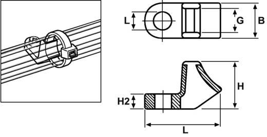 Befestigungssockel schraubbar UV-stabilisiert, witterungsstabil Schwarz HellermannTyton 151-02259 CL8-W-BK-C1 1 St.