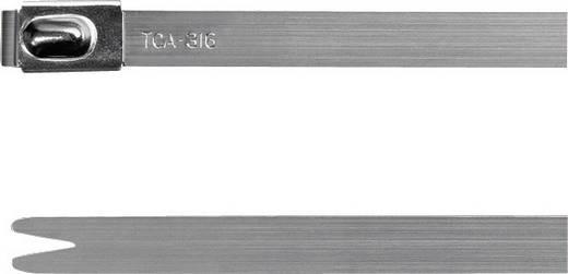 Kabelbinder 201 mm Silber mit Kugelverschluss HellermannTyton 111-93089 MBT8S-316-SS-NA-C1 1 St.