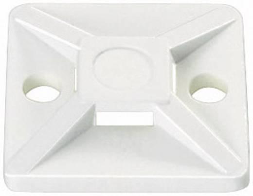 Befestigungssockel selbstklebend, schraubbar 4fach einfädeln, halogenfrei, UV-stabilisiert, witterungsstabil Transparen