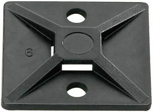 Befestigungssockel selbstklebend, schraubbar 4fach einfädeln, halogenfrei, UV-stabilisiert, witterungsstabil Schwarz He