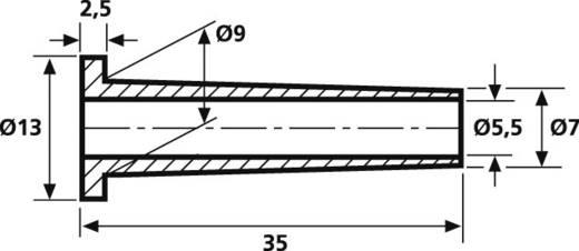 HellermannTyton HV2101-PVC-BK-M1 Knickschutztülle Klemm-Ø (max.) 5.5 mm PVC Schwarz 1 St.