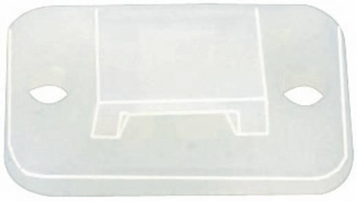 Befestigungssockel selbstklebend, schraubbar halogenfrei , UV-stabilisiert, witterungsstabil Transparent HellermannTyto