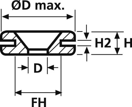 HellermannTyton HV1401-PVC-BK-M1 Kabeldurchführung Klemm-Ø (max.) 5 mm PVC Schwarz 1 St.