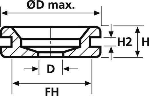 HellermannTyton HV1402-PVC-BK-M1 Kabeldurchführung Klemm-Ø (max.) 6 mm PVC Schwarz 1 St.