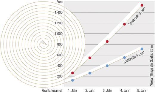 Dichtband tesa tesamoll® Weiß (L x B) 6 m x 9 mm Kautschuk Inhalt: 1 Rolle(n)