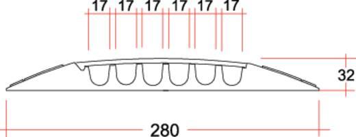 Kabelbrücke Polyurethan Schwarz, Gelb Anzahl Kanäle: 6 1000 mm Adam Hall Inhalt: 1 St.