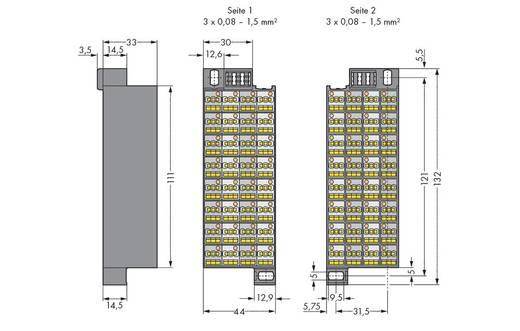 Rangierwabe Zugfeder Grau WAGO 726-121 20 St.