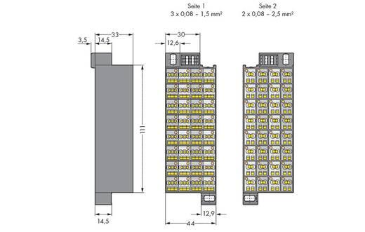 Rangierwabe Zugfeder Grau WAGO 726-222 20 St.