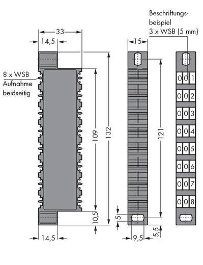 Dekadenbeschriftungsträger WAGO Inhalt: 10 St.
