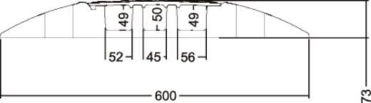 Kabelbrücke Polyurethan Schwarz, Gelb Anzahl Kanäle: 3 1000 mm Adam Hall Inhalt: 1 St.