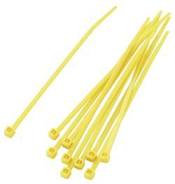 Assortiment de serre-câbles 2.20 mm x 100 mm jaune KSS 542348 crantage intérieur 100 pc(s)